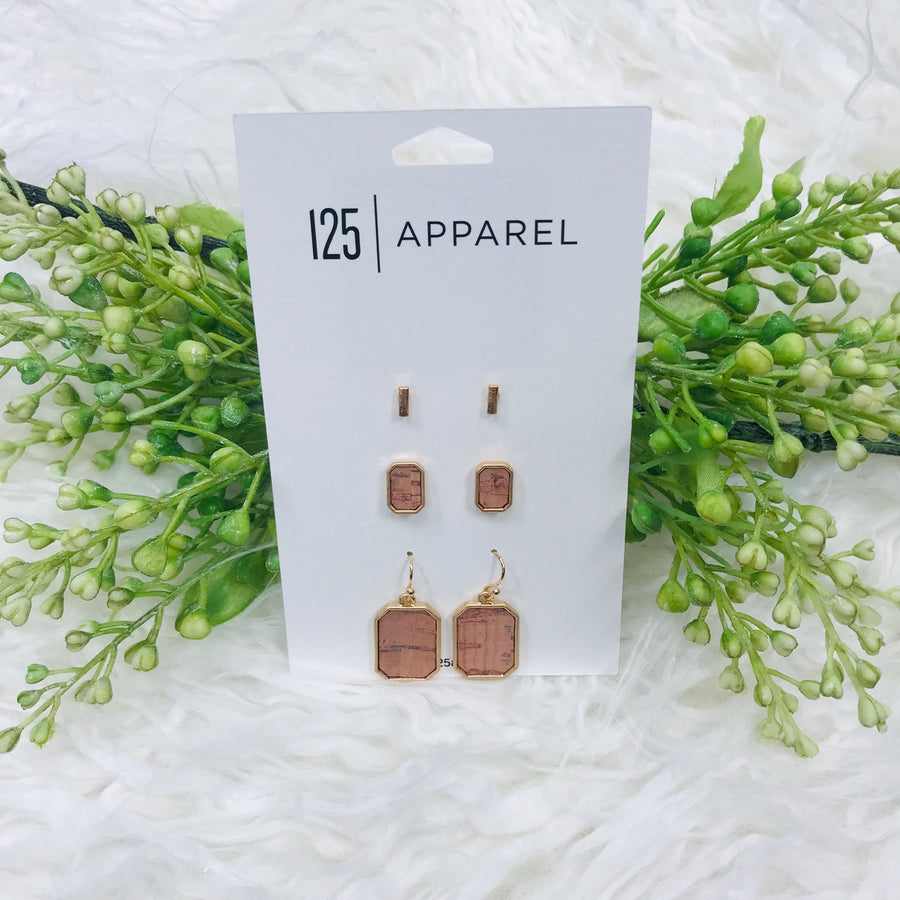 Cork Earring Set