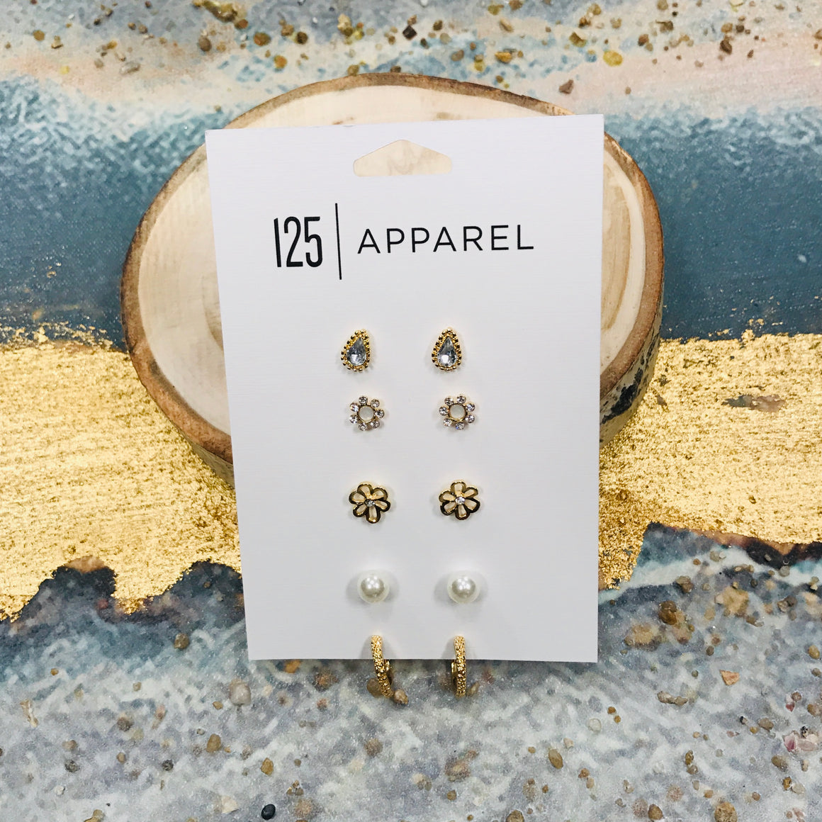 Flower Stud Earrings Set