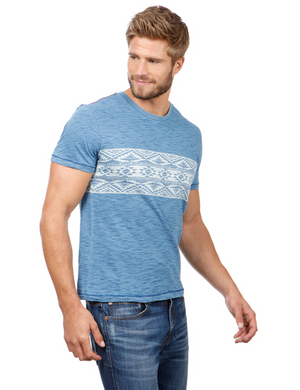 Lucky Brand Aztec Chest Stripe Crew