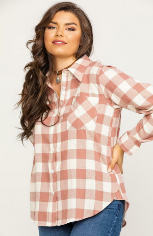 Wrangler Flannel Long Sleeve Top