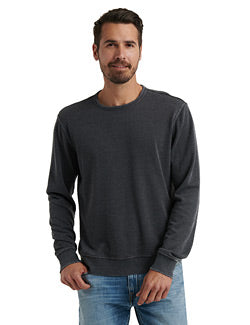 Lucky Brand Burnout Fleece Crewneck