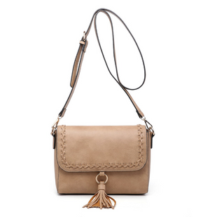 Sandy Whipstitch Flapover Crossbody