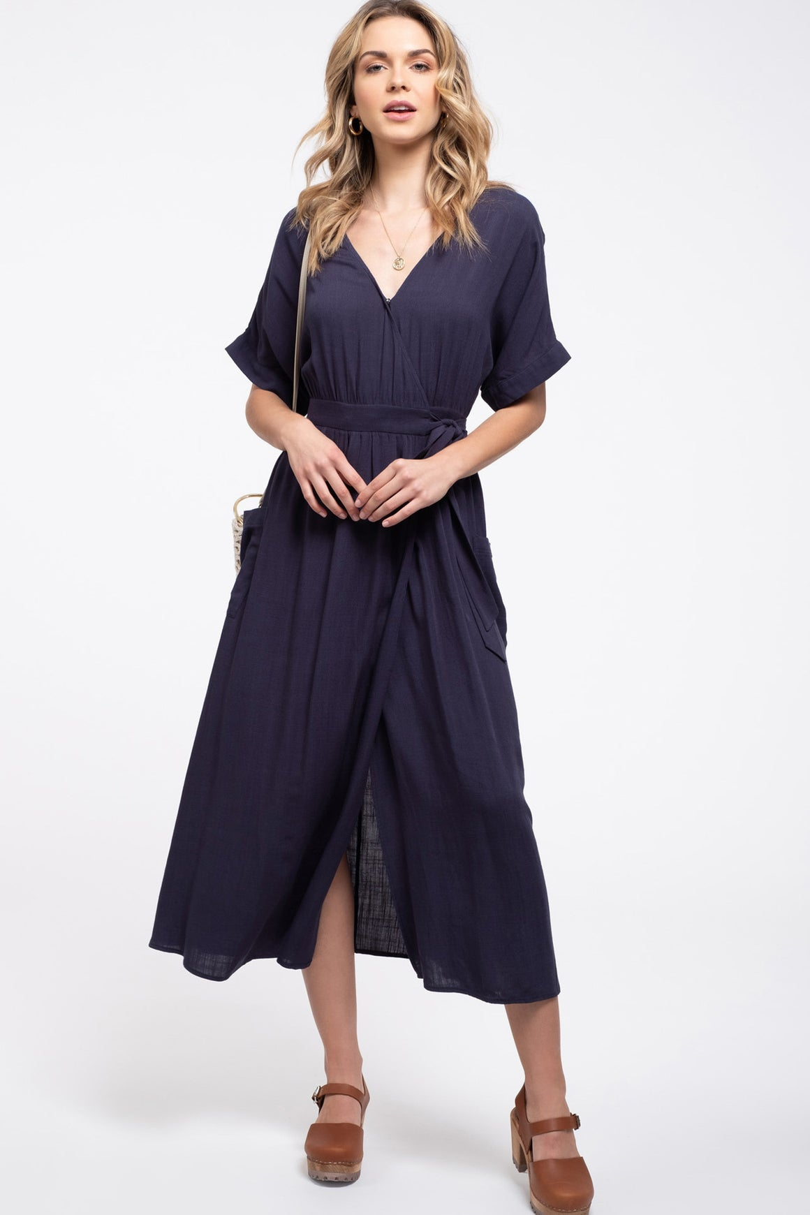 Surplice Maxi Dress