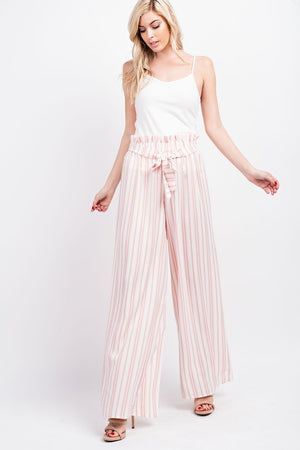 Linen Striped Woven Pants