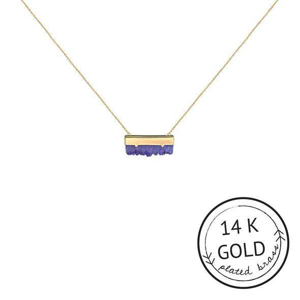 Amethyst Druzy Guiding Gems Necklace