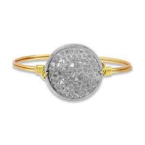 Metallic Crystal Druzy Bangle