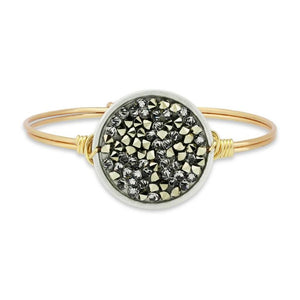 Metallic Gold Druzy Bangle