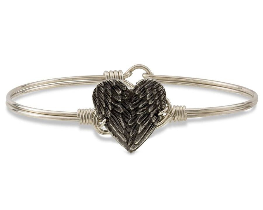 Angel Wing Heart Bangle