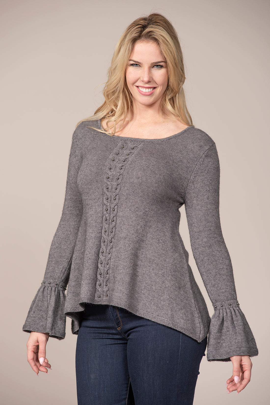 Sweater with Pearl Detail