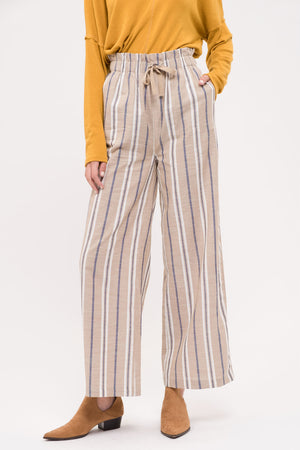 Stripe Paperbag Pants