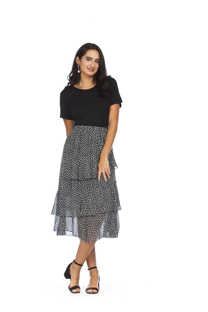 Dotted Layered Skirt