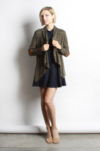 Elbow Patched Cardigan