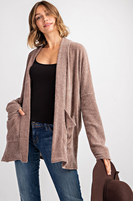 Soft Brushed Open Cardigan