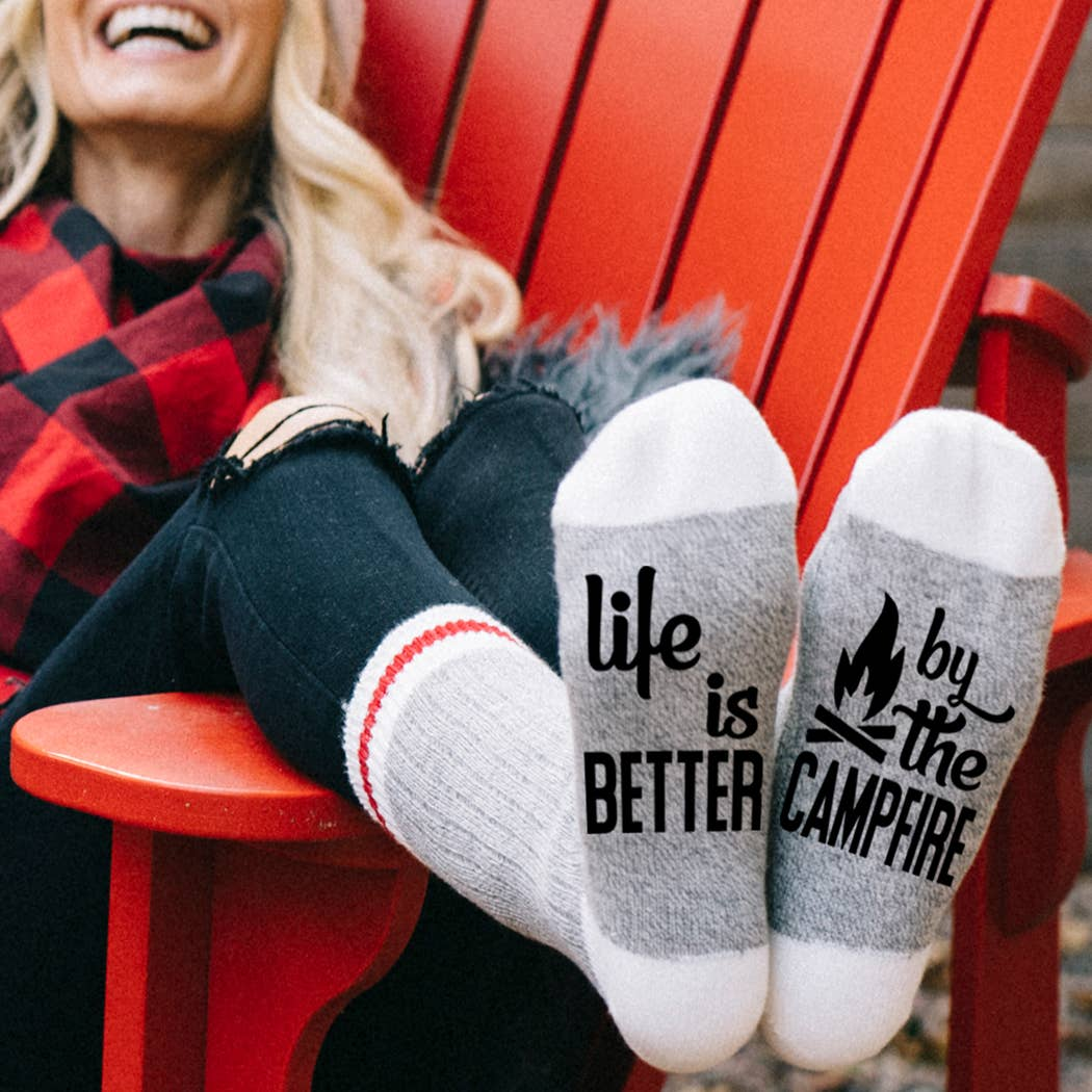 Life is Better by the Campfire Socks
