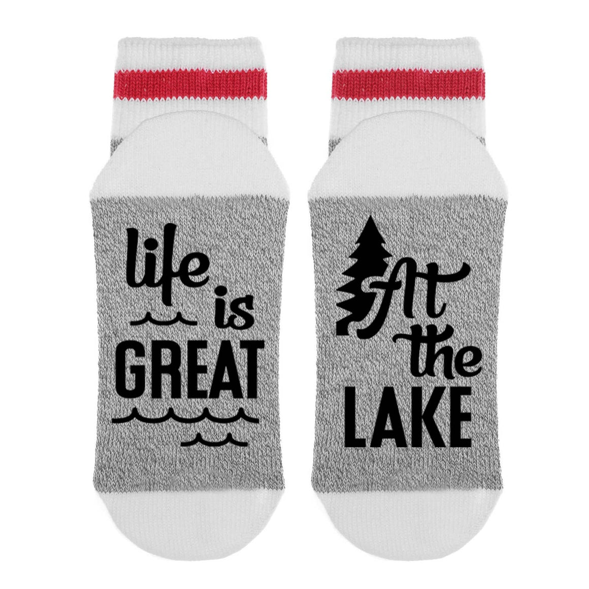Life is Great at the Lake Socks