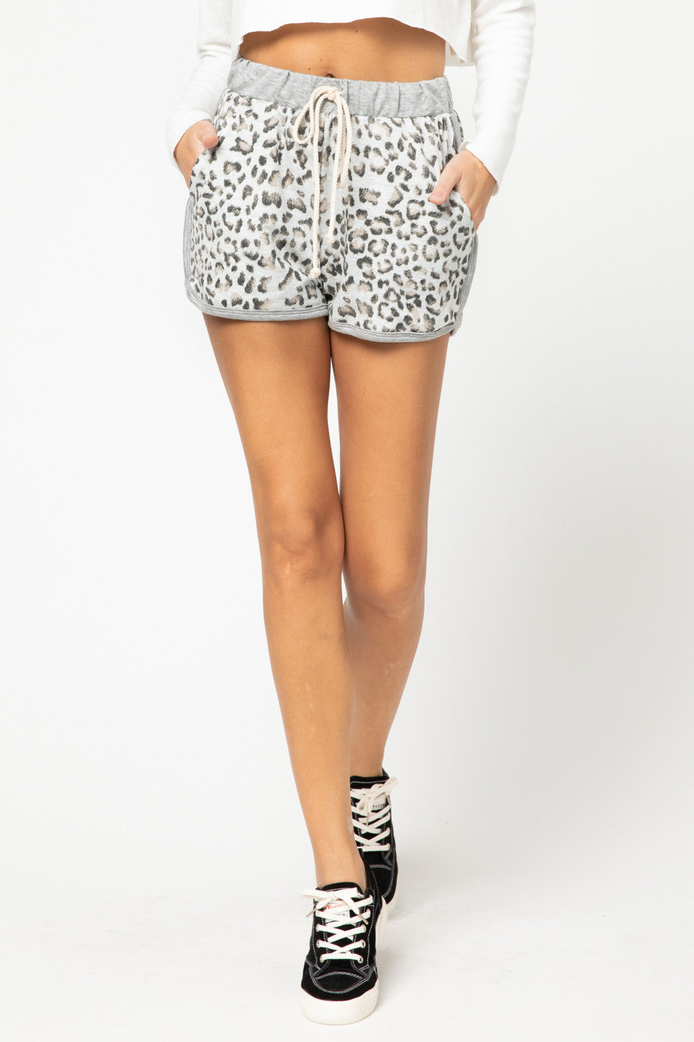 Faded Leopard Shorts