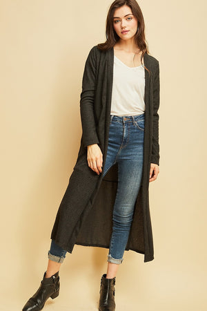 Ribbed Maxi Cardigan