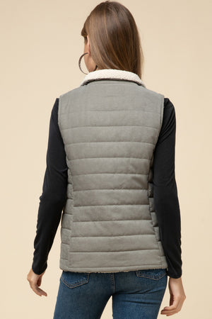 Reversible Puffer & Shearling Vest