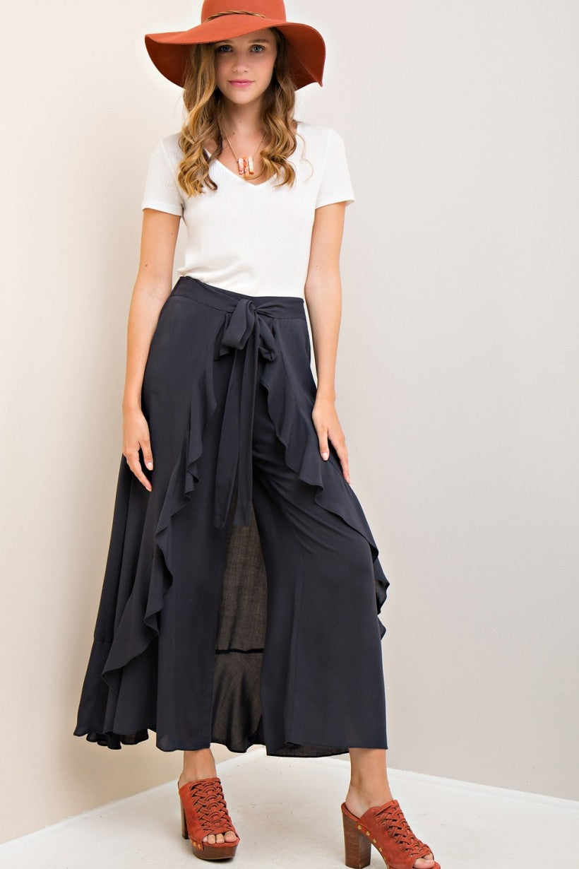Ruffled High-Waisted Panted