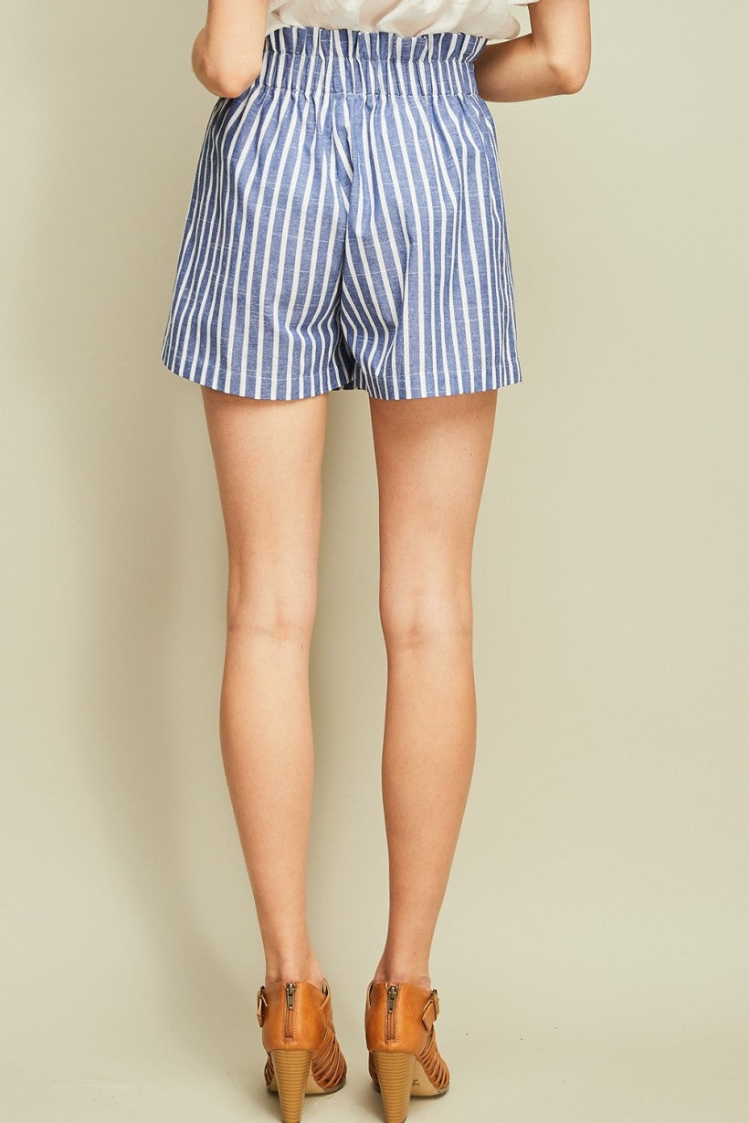 Striped Wrap Skort