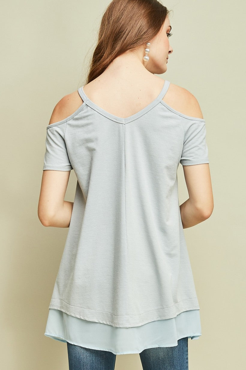 Cold-Shoulder Asymmetrical Tunic