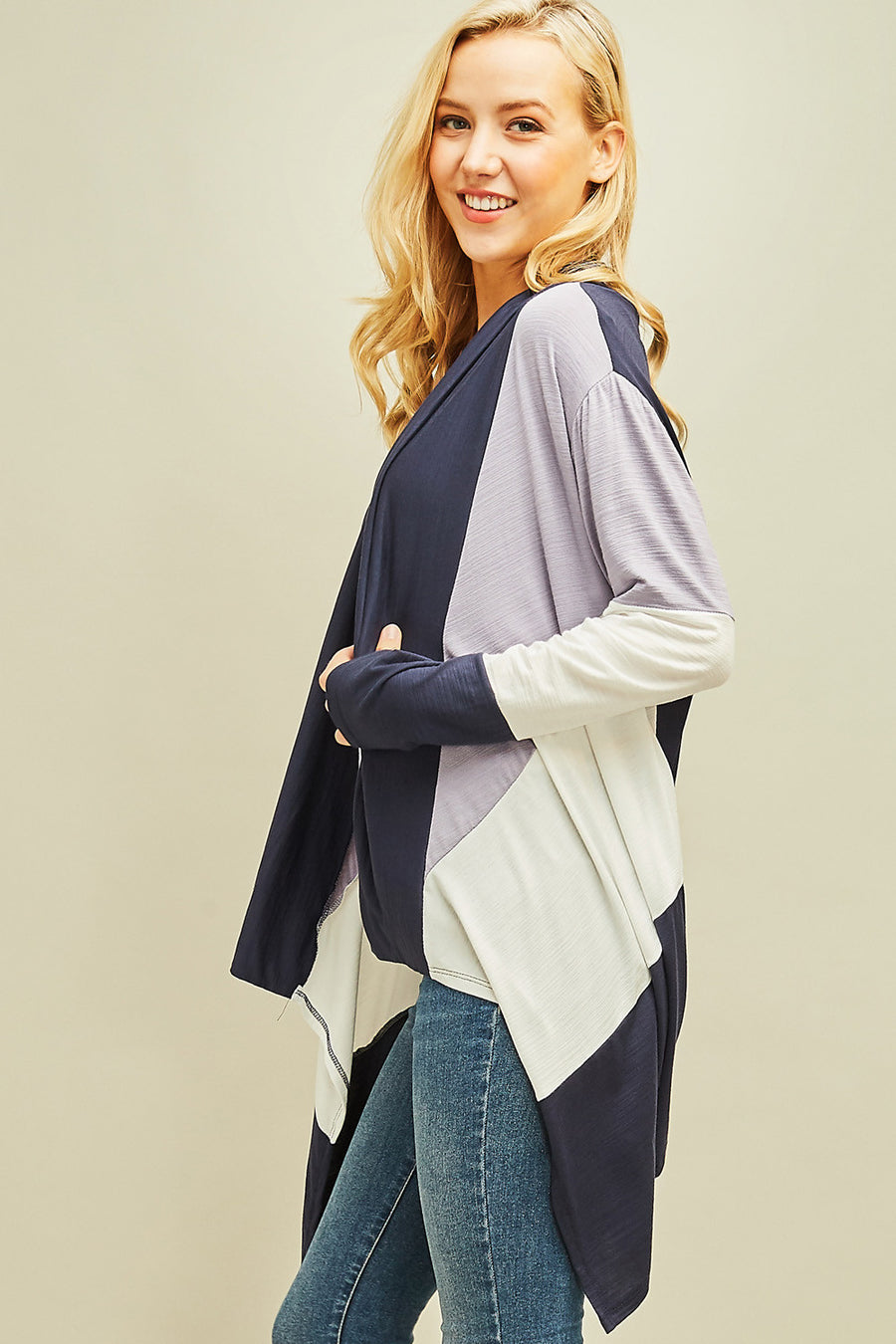 Draped Shawl Cardigan