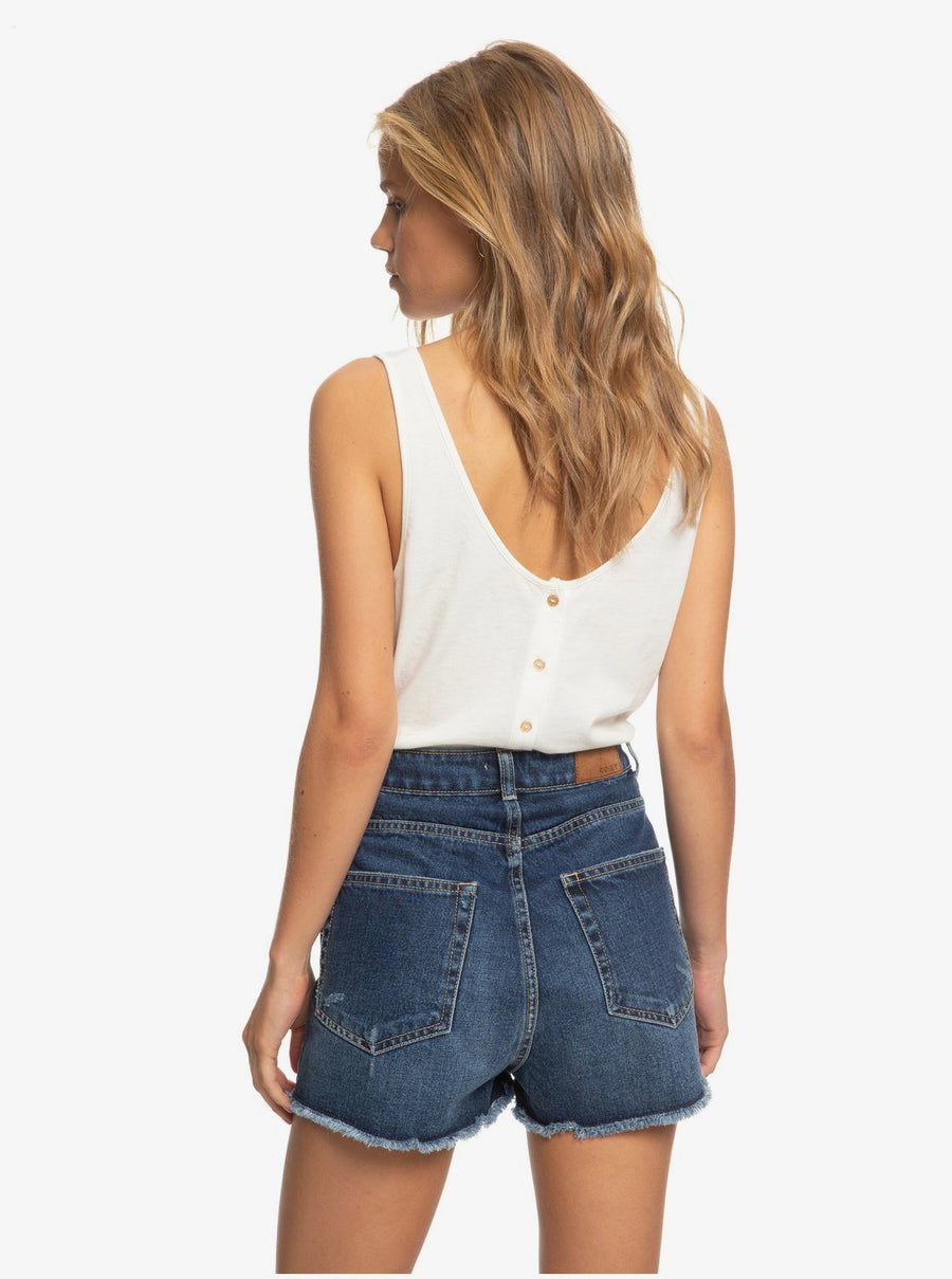 Roxy Lagos Cliff High Waist Denim Shorts