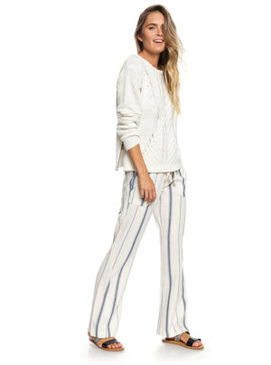 Oceanside Flared Linen Pants