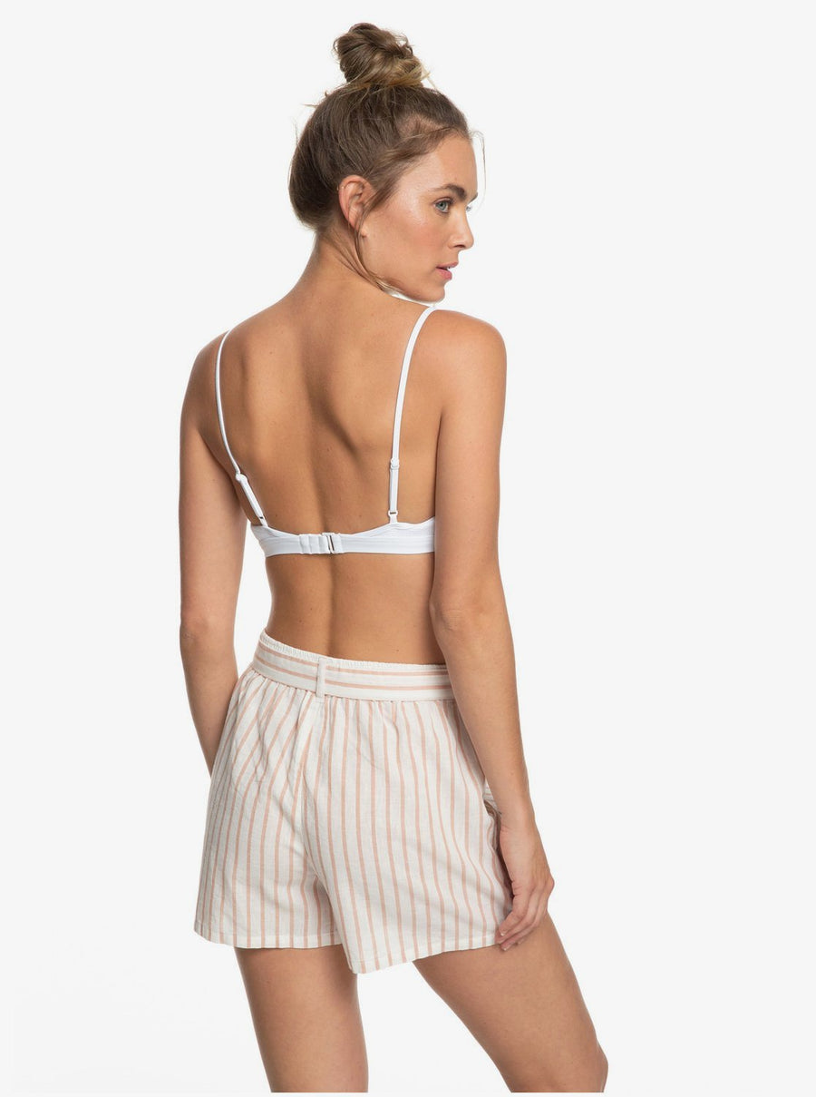 Roxy Steal The Sun High Waist Linen Shorts