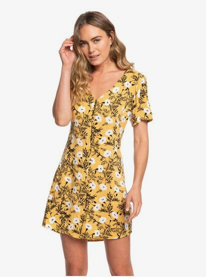 Damage Love Short Sleeve Buttoned Dress