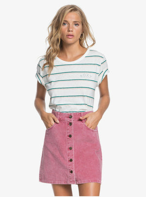 Unforgettable Fall Button Through Corduroy Skirt