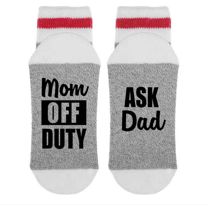 Mom Off Duty Ask Dad Socks
