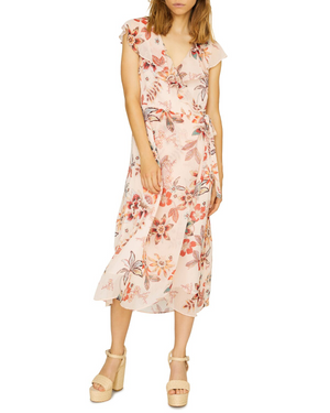 Jolynn Faux Wrap Midi Dress