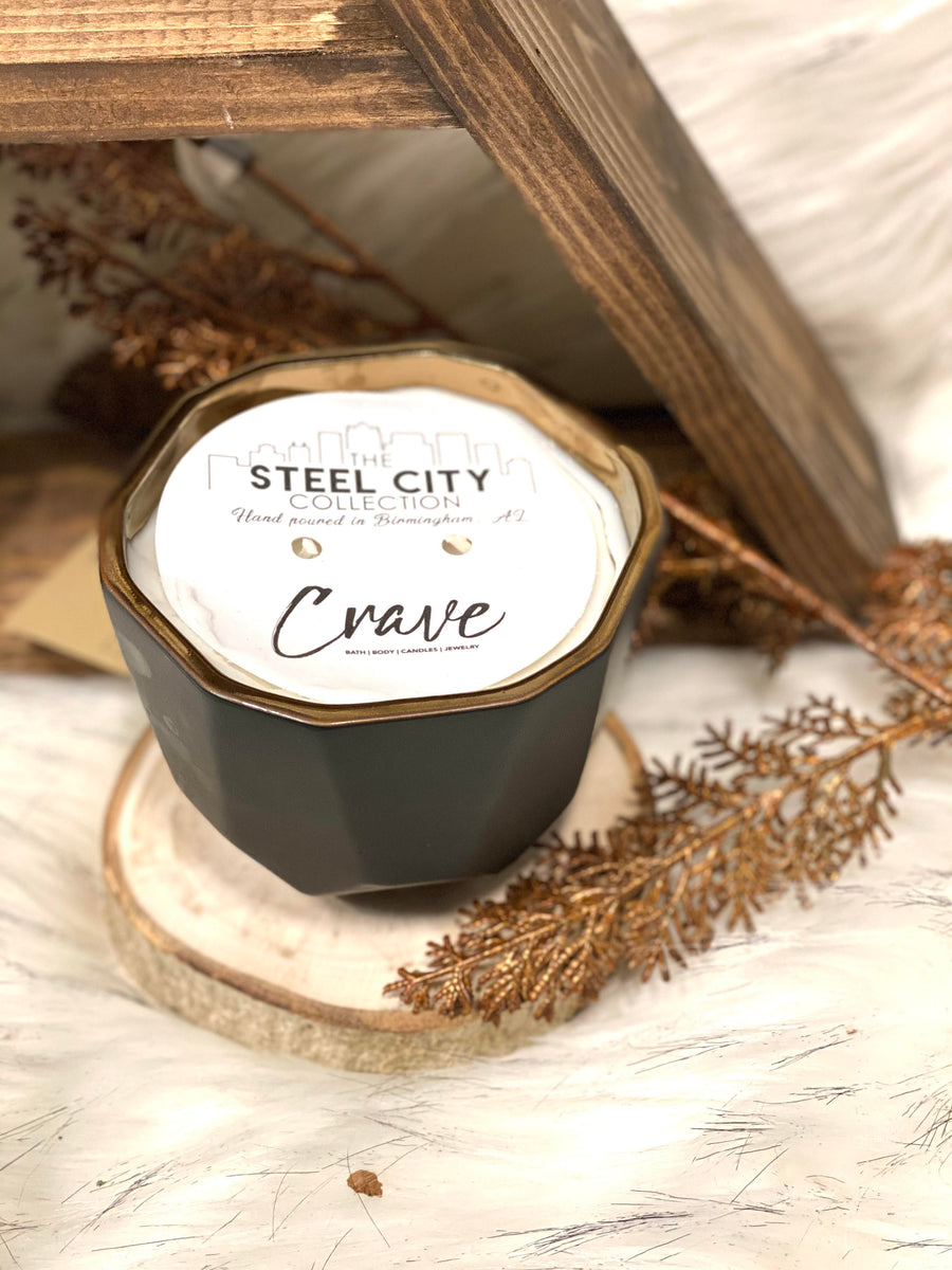 Crave Steel City Large Matte Candle