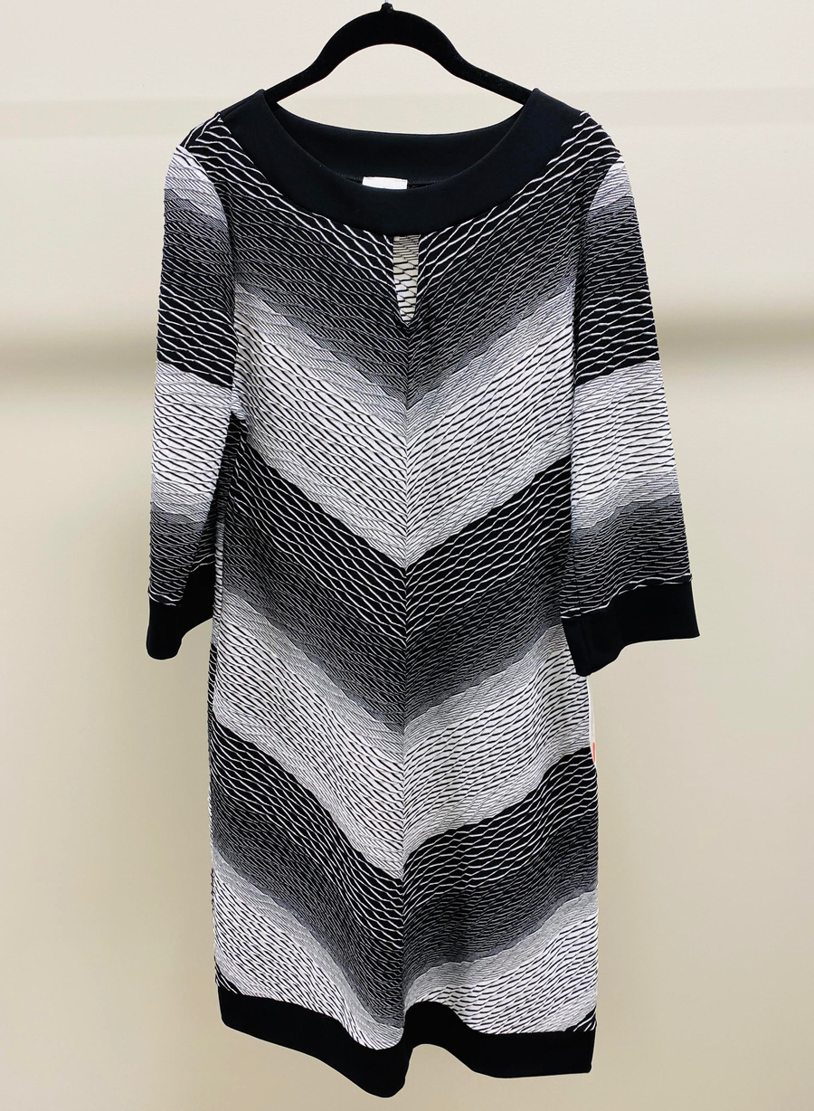 Black and White Shift Dress