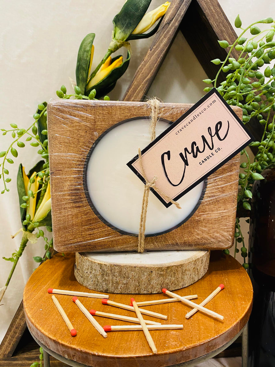 Crave Wood Block candle