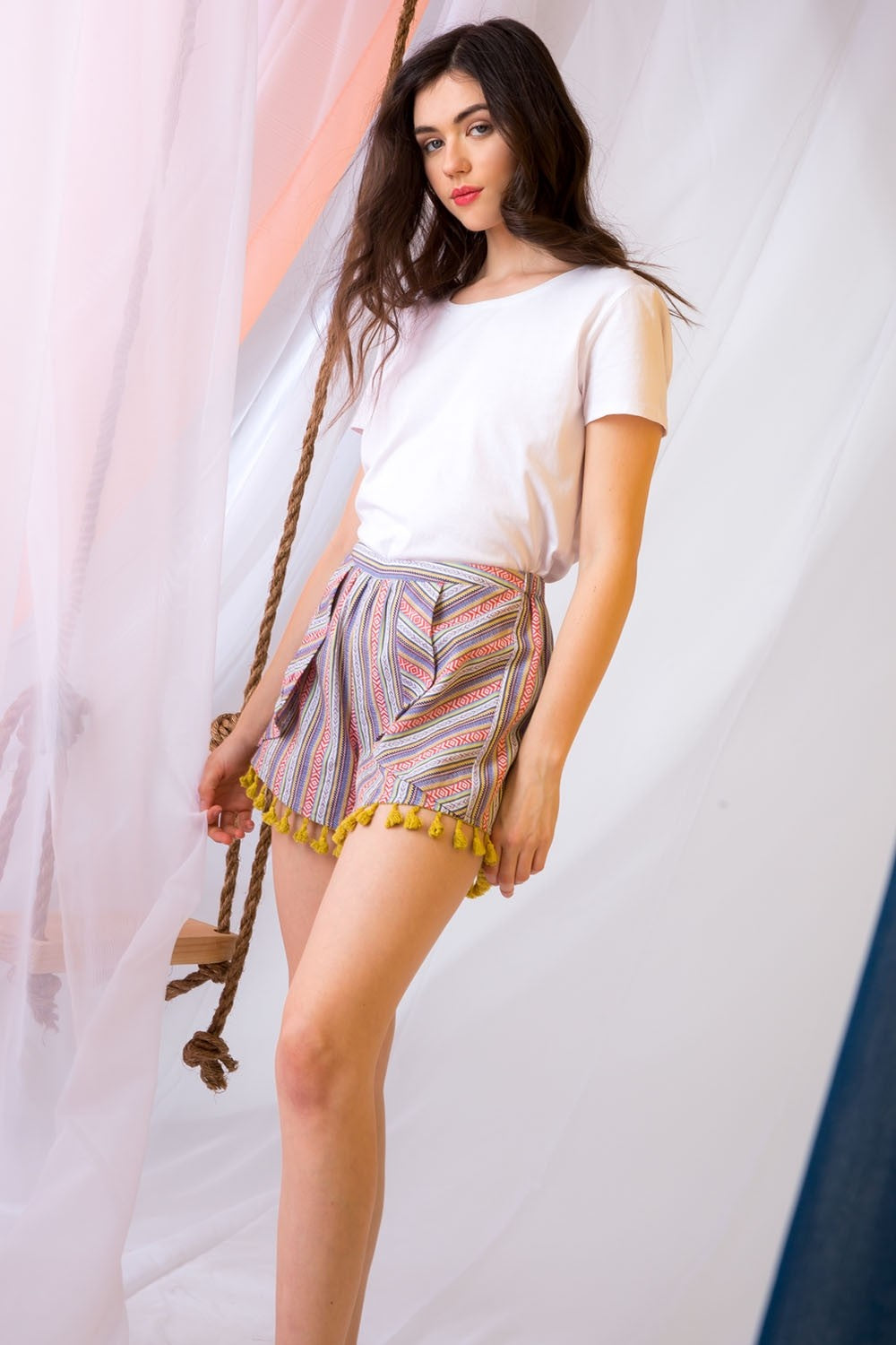 Multi Colored Stripe Short