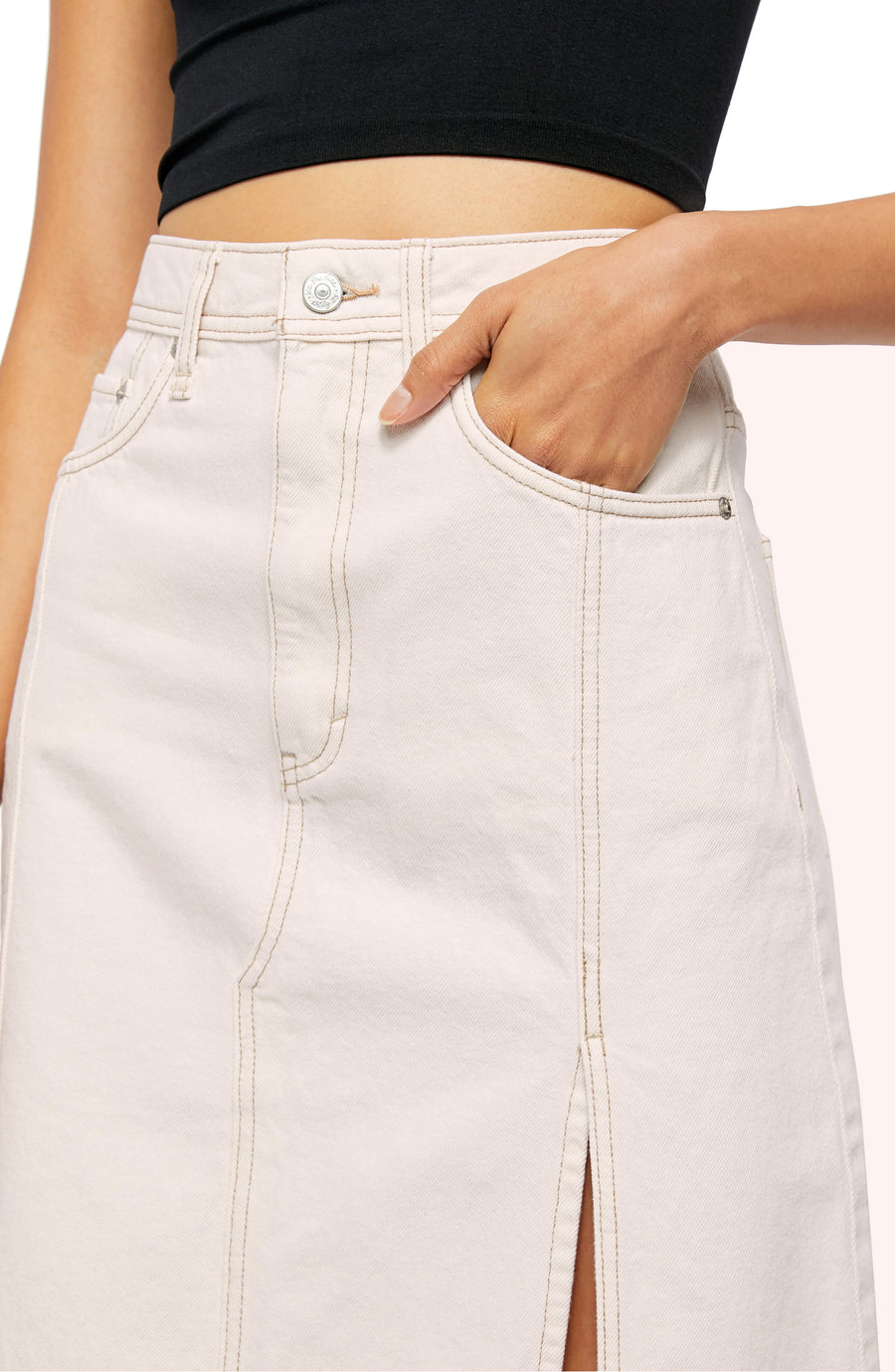 Free People Mambo Denim Skirt