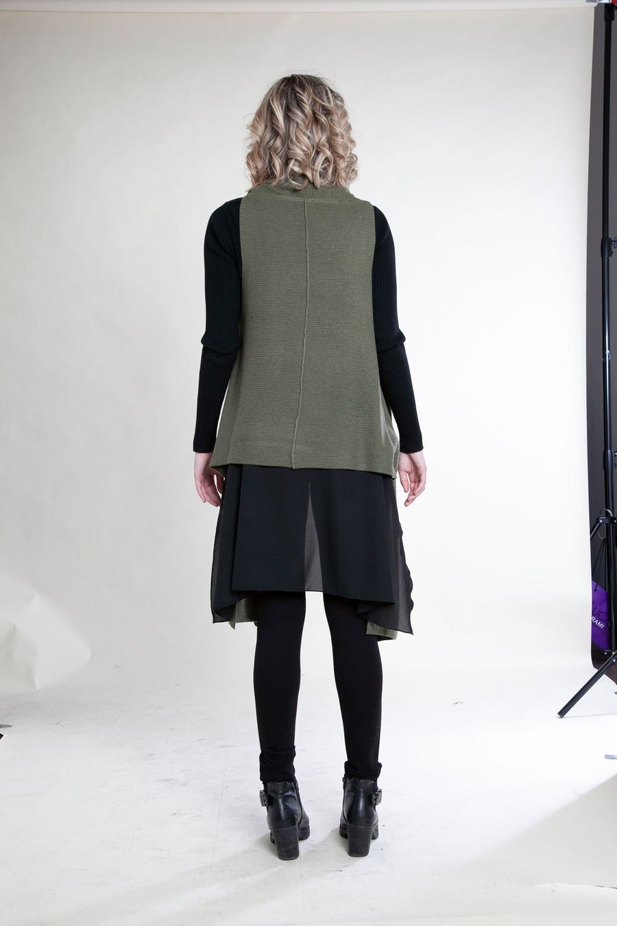 Sweater with Chiffon Detail