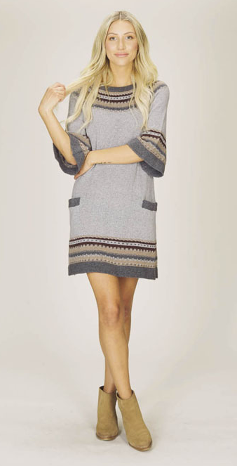Fairisle Printed Sweater Dress