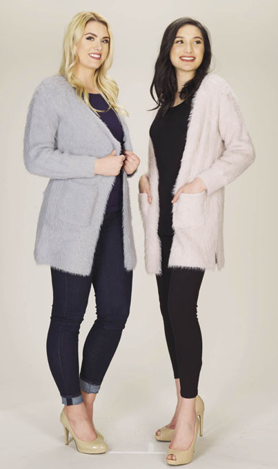Fuzzy Long Cardigan with Pockets