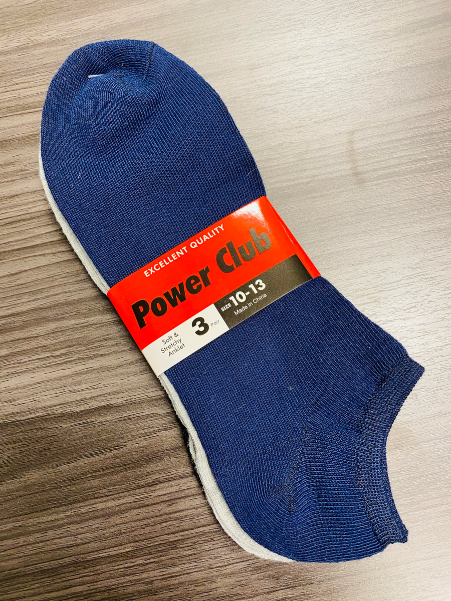 3 Pair Solid Socks - Size 10-13