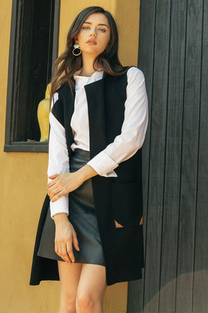 Collared Vest with Pockets