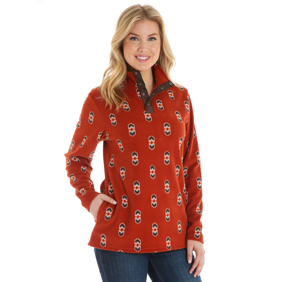 Long Sleeve Print Pullover