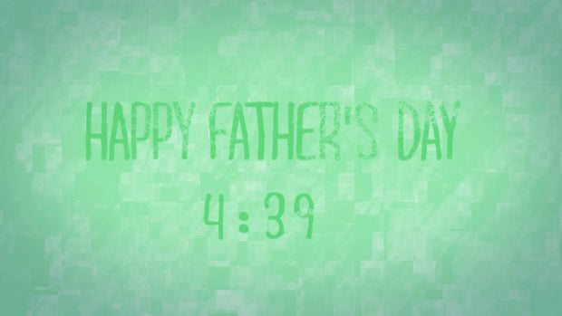 Father's Day Countdown Morphing Colors