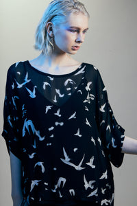 Bella Top (Birds Print)