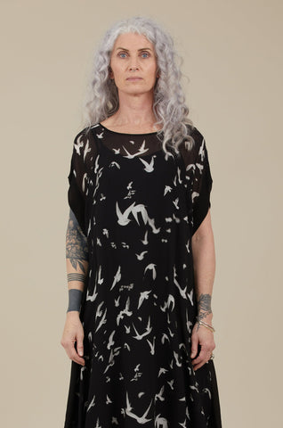 Crow Dress (Birds Print)