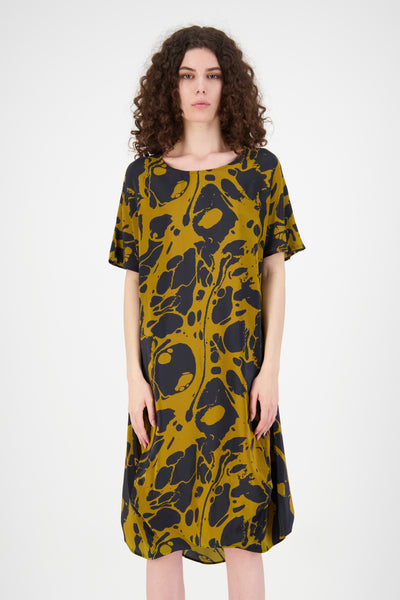 Everywhere Dress (Gold/Navy)