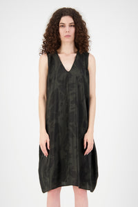Hera Silk Dress (Grey/Black)