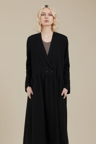 Mist Coat Dress (Black)